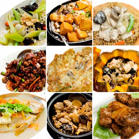 asian flavors: collection chinese food. asian food collection