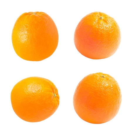 collection orange. orange on background