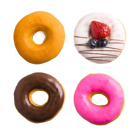 donut isolated collection on background photo