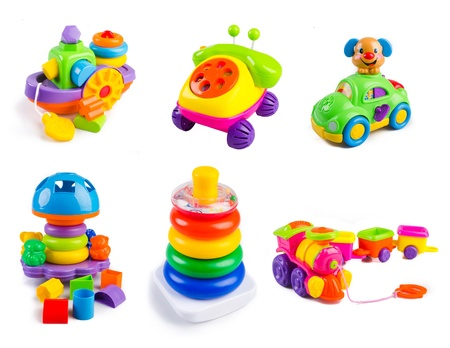 collection toy. toys collection on the background Stock Photo