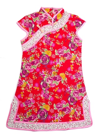 photo of object s: kids chinese dress for girls on the background