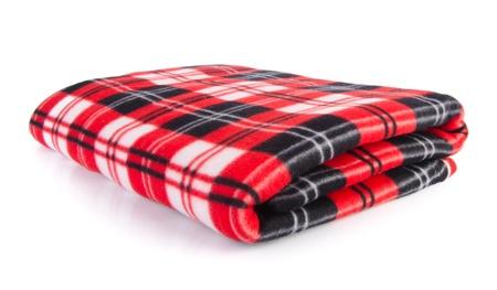 blanket, Soft warm blanket on the background