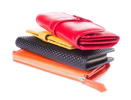 wallet. woman wallet on background Stock Photo - 21236690