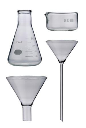 Lab. Laboratory glassware set on background Stock Photo - 21611047
