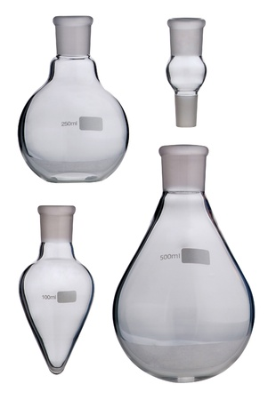 Lab. Laboratory glassware set on background Stock Photo - 21611055