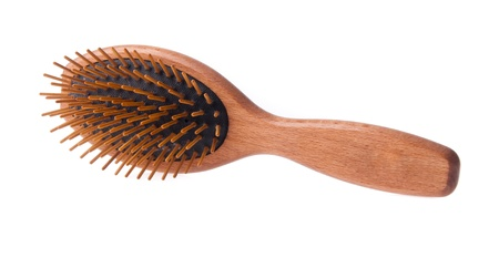 Comb. Wooden old combon the blackground Stock Photo - 21611194