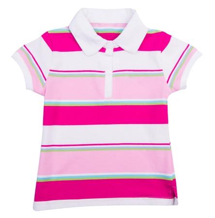 children's wear: shirt. Childrens wear girl on background