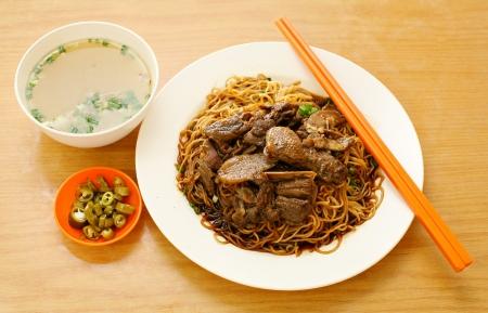Duck noodle. Duck noodle asia photo