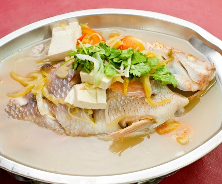 fish. steamed fish chinese style photo
