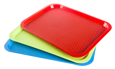 lunch tray: Tray. Plastic empty tray on a background