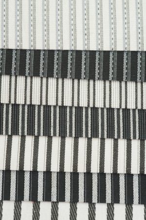 Fabric. Textured Striped Cotton Fabric Swatch photo