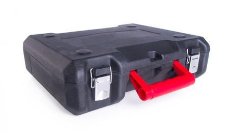 plastic tool box on background photo