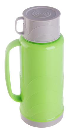 thermo: Thermo, Plastic Thermo flask on the background