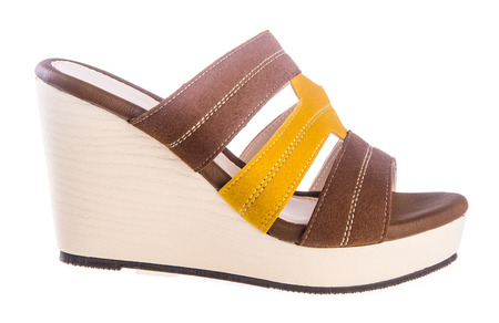 shoe. woman sandal on background photo