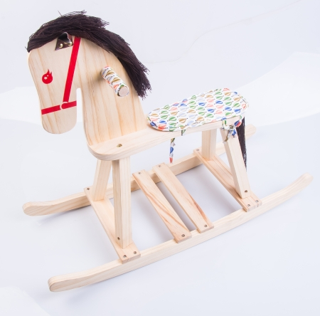 rocking horse. rocking horse on background photo