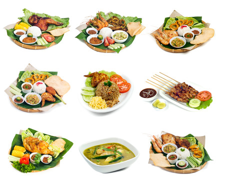 hotel indonesia: Indonesian bali food on the background Stock Photo