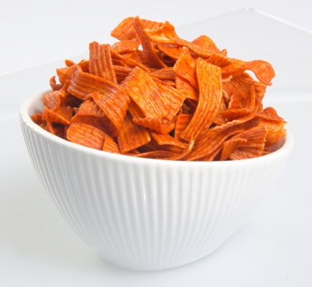 titbits: Junk food on white background Stock Photo