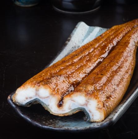 japanese cuisine unagi or eel on background Stock Photo