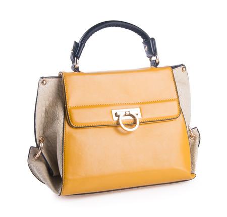 womans handbag on the
