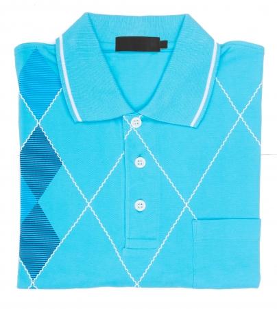 shirt. folded polo shirt on background photo