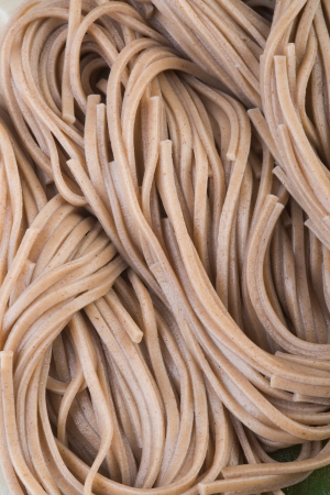 buckwheat noodle: japanese cuisine.  Stock Photo