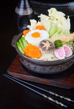 japanese cuisine. udon on background photo