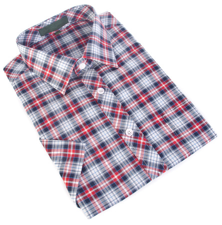 shirt, mans cotton plaid shirt on the background.