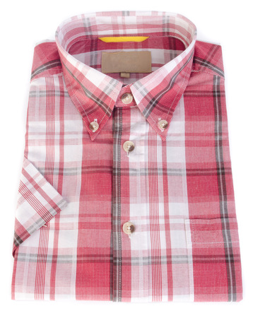 shirt, man's cotton plaid shirt on the background. photo