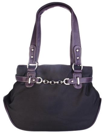 vanity bag: bag. black bag on the background.