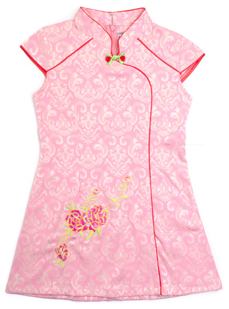 kids chinese dress for girls on the background photo