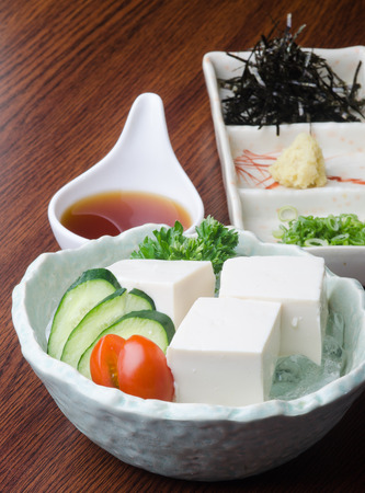 japanese cuisine. tofu on background photo