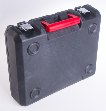 plastic tool box on background photo