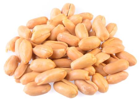 Peanuts. Processed peanuts on background photo