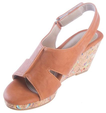shoe. woman sandal on background Stock Photo - 25874187