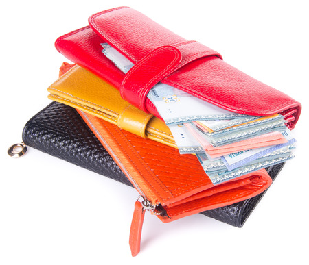wallet. woman wallet with money on background Stock Photo - 25890966