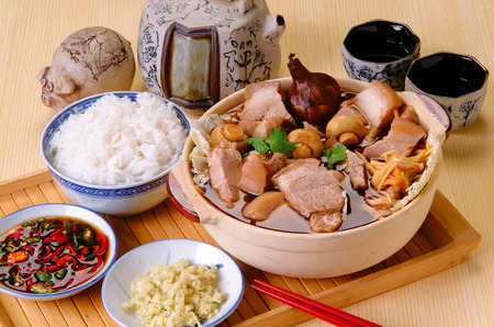 ba kut teh. Malaysian stew of pork and herbal soup,