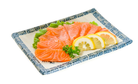 raw Salmon fish photo