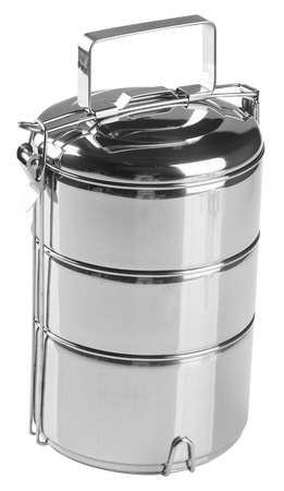 Food Container Tiffin, Food Container on the background. photo