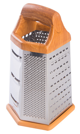 grater. metal grater on the background. photo