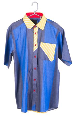 man shirts. man shirts on hangers photo