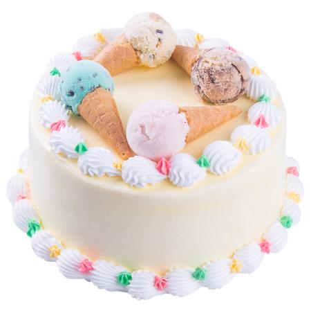 cake. ice cream cake with white background photo