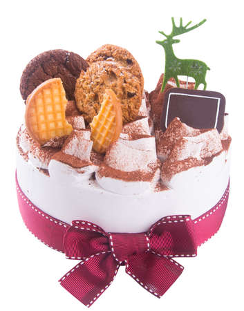 cake. ice cream cake with white background photo