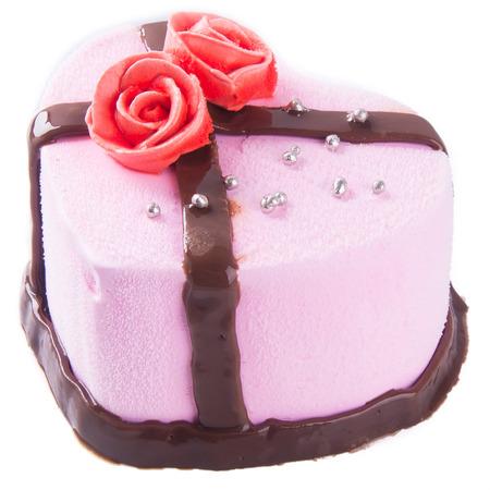 cake, strawberry Ice-cream cake  photo