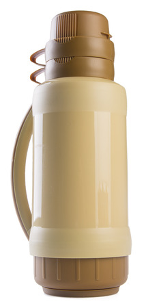 thermo: Thermo flask on white