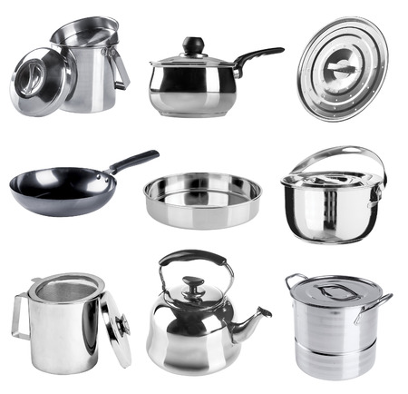 stainless steel kitchenware collection  photo
