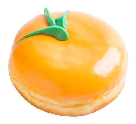 donut. donut orange on a background photo
