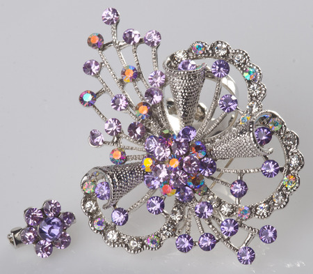 jewellery. brooches on the background photo