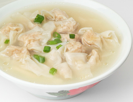 Wonton Soup. pork soup asia food photo