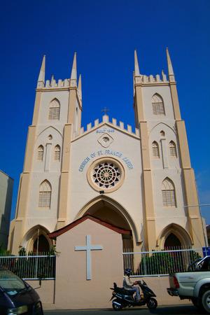 francis: Francis Xavier Church in Malacca, Malaysia. Stock Photo