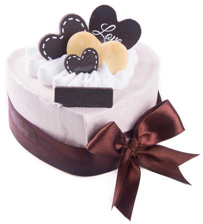 cake, birthday Ice-cream cake on background photo